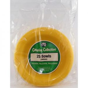 We Like To Party Plain Tableware Plastic Bowls Yellow 25pk