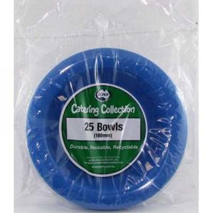 We Like To Party Plain Tableware Plastic Bowls Royal Blue 25pk