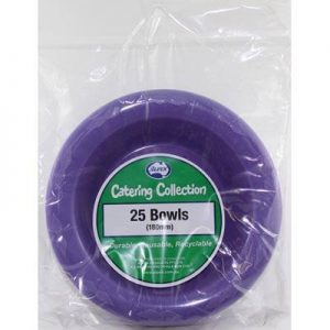 We Like To Party Plain Tableware Plastic Bowls Purple 25pk