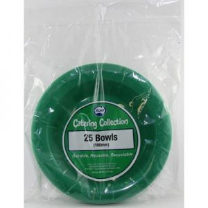 We Like To Party Plain Tableware Plastic Bowls Green 25pk