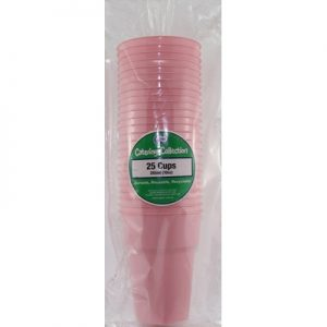 We Like To Party Plain Tableware Plastic Cups Light Pink 25pk