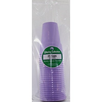 We Like To Party Plain Tableware Plastic Cups Lavender 25pk