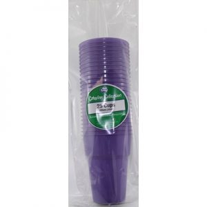We Like To Party Plain Tableware Plastic Cups Purple 25pk
