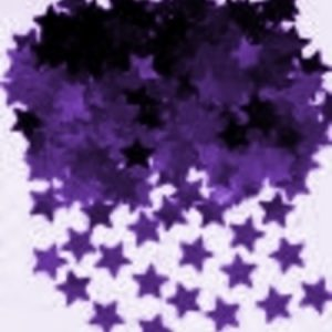 We Like To Party Table Confetti Stars Purple