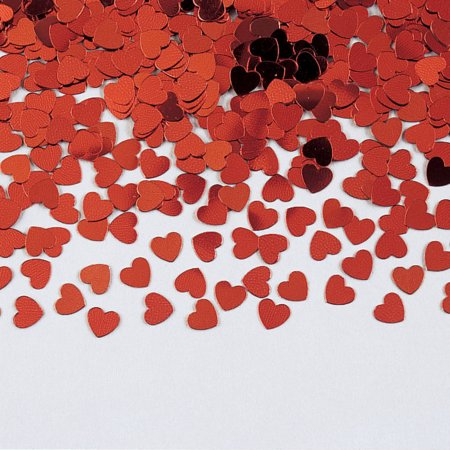 We Like To Party Table Confetti Hearts Red