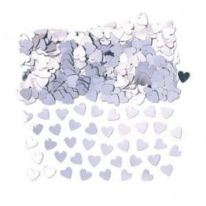 We Like To Party Table Confetti Hearts Silver