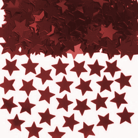 We Like To Party Table Confetti Stars Red
