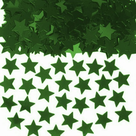 We Like To Party Table Confetti Stars Green