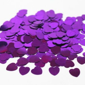 We Like To Party Table Confetti Hearts Purple