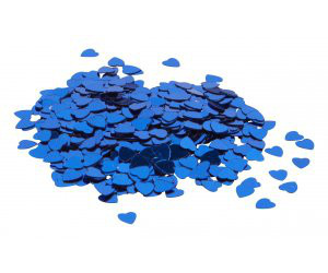 We Like To Party Table Confetti Hearts Sapphire Blue