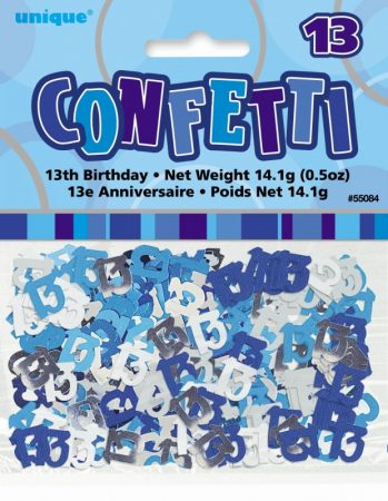 We Like To Party Table Confetti Glitz Blue And Silver Number 13