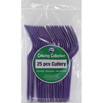 We Like To Party Plain Tableware Cutlery Forks Purple