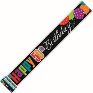 We Like To Party 50th Birthday Party Supplies And Decorations 50th Birthday Banner