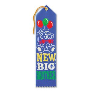 We Like To Party Baby Shower Party Supplies New Big Brother Ribbon