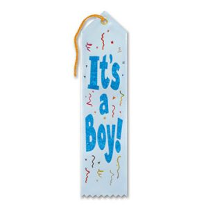 We Like To Party Baby Shower Party Supplies Its A Boy Ribbon