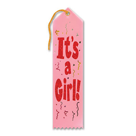 We Like To Party Baby Shower Party Supplies Its A Girl Ribbon