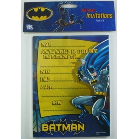 We Like To Party Batman Party Invitations & Envelopes, Pack of 8
