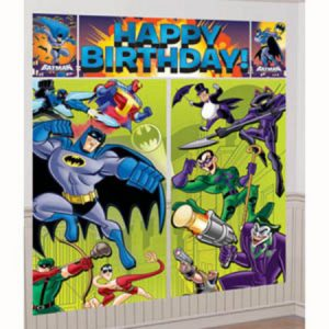 We Like To Party Batman Giant Wall Decorating Kit