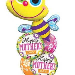 We Like To Party Happy Mothers Day Bumble Bee Balloon Bouquet