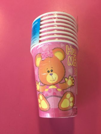 We Like To Party 1st Birthday Girl Teddy Bear Cups