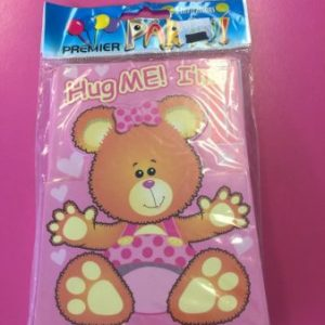 We Like To Party 1st Birthday Girl Teddy Bear Invitations & Envelopes