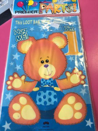 We Like To Party 1st Birthday Boy Teddy Bear Loot Bags