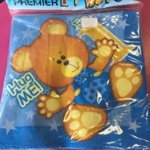 We Like To Party 1st Birthday Boy Teddy Bear Napkins
