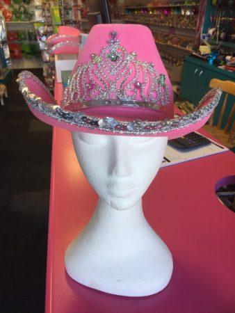 e28141e1c9e0b Pink Cowboy Hat with Tiara (Buy 5 Get 1 Free!)