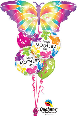 We Like To Party Mothers Day Butterfly Balloon Bouquet