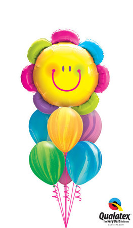 We Like To Party Radiant Rainbow Flower Balloon Bouquet