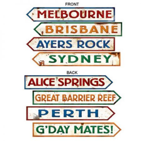 We Like To Party Australiana Party Supplies & Decorations Town Signs