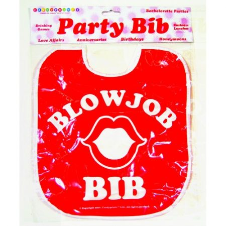 We Like To Party Novelty Gag Blowjob Bib