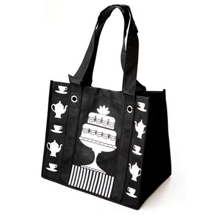 We Like To Party Enviro Bag Black & White Cake