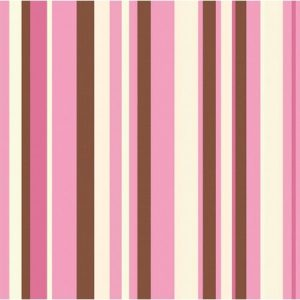 We Like To Party Pink Ivory Brown Stripes Napkins