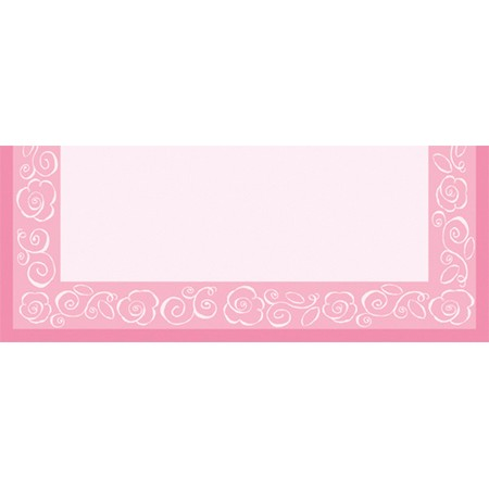 We Like To Party Bridal Bouquet Place Cards Pink And White