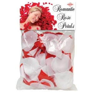 We Like To Party Red & White Rose Petals