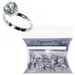 We Like To Party Hens Night Silver Engagement Rings
