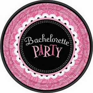 We Like To Party Bachelorette Party Round Lunch Paper Plates