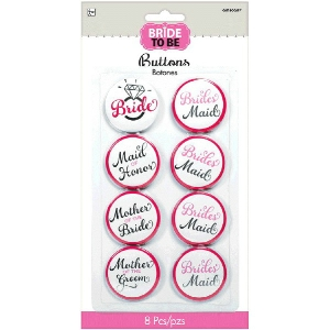We Like To Party Hens Night Bridal Party Badges