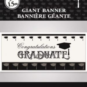 We Like To Party Giant Congrats Graduate Banner