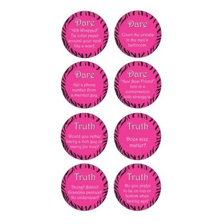 We Like To Party Bachelorette Beverage Coasters Featuring Truth Or Dare Party Game