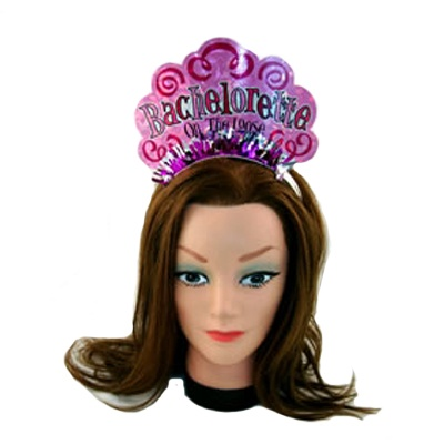 We Like To Party Hens Night Bachelorette Cardboard Tiara & Veil