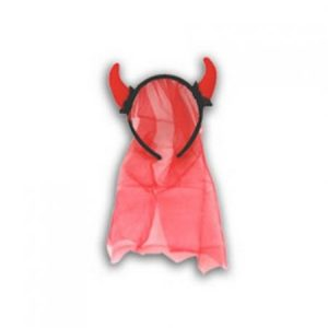 We Like To Party Hens Night Red Devil Headband With Red Veil