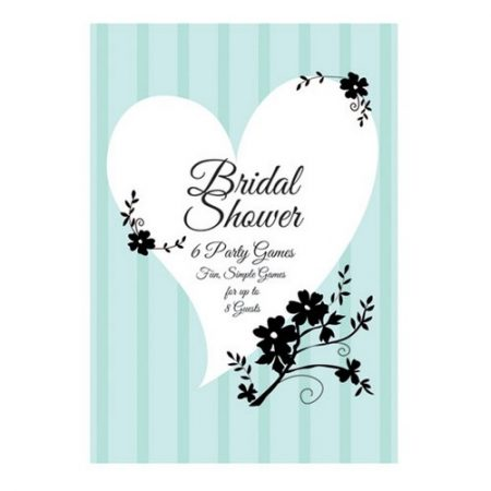 We Like To Party Two Love Birds Bridal Shower Game Book Pastel Green Black & White