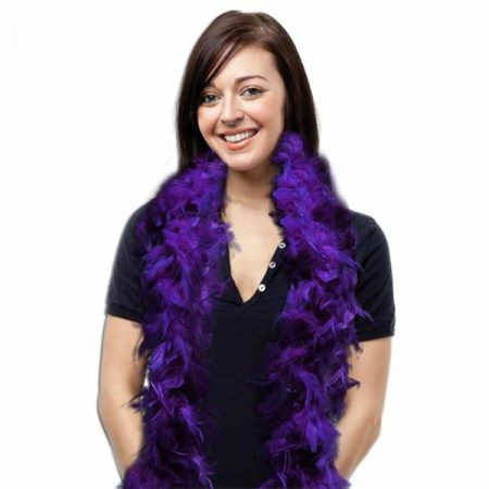 We Like To Party Feather Boa Purple
