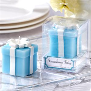 We Like To Party Blue & White Present Candle Favour Gift