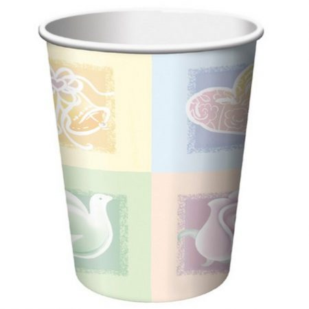 We Like To Party Symbols Of Love Bridal Shower Cups Hearts Doves Bells Roses