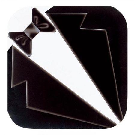 We Like To Party Tuxedo Black & White Square Plates