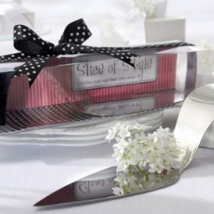 We Like To Party Silver Shoe Cake Server
