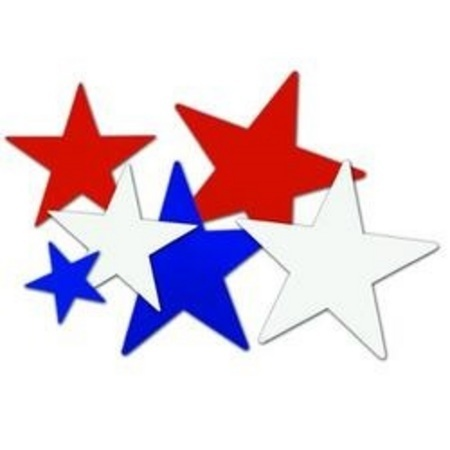 We Like To Party Red White Blue Star Cutouts